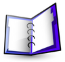 Image of a writing paper binder