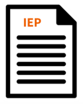 Image of a stack of ruled paper labelled IEP