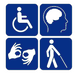 Image showing icons for different kinds of disabilities