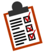 Image of a checklist on a clipboard.