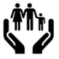 Image of hands holding a family