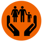 Image of a pair of hands supporting a family
