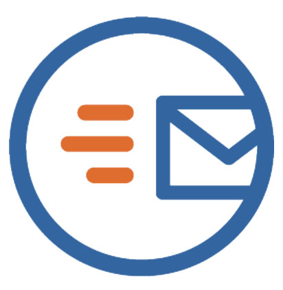 Image of an envelope or email being sent