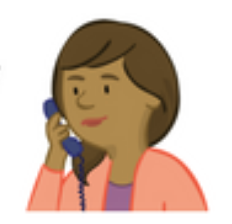 Image of Paula Parent Character on the phone