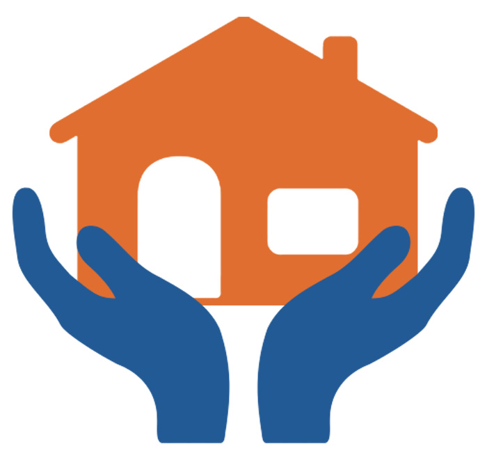 Image of two hands supporting a house